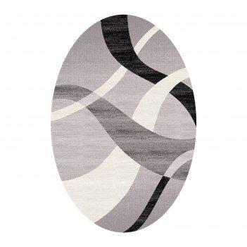 Ковёр omega carving  7690 grey/black 2.5*4.0 м, овал