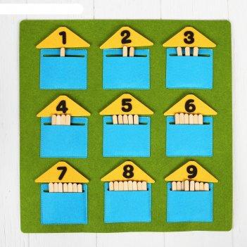 Дидактический коврик домики-считалки