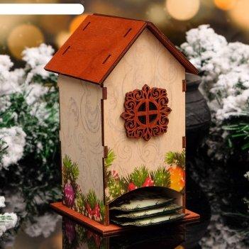 Чайный домик ёлочные украшения, 8,5х9х18см