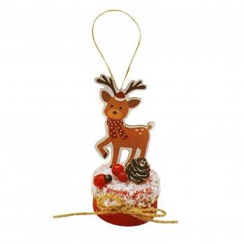 Набор для творчества - создай елочное украшение  праздничный олень