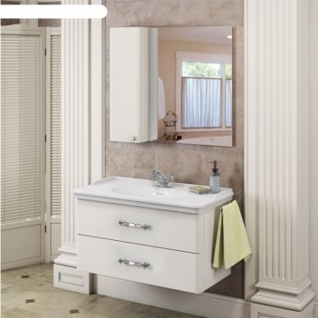 Зеркало-шкаф comforty «неаполь-100» белый