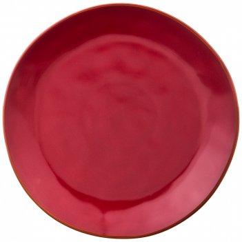 Тарелка обеденная concerto диаметр=26 см винный красный (кор=8шт.)