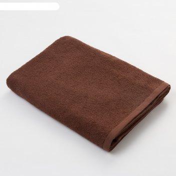 Полотенце махровое экономь и я 70*130 см шоколад, 100% хлопок, 340 г/м2