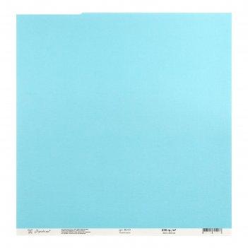 Бумага для скрапбукинга текстурированная тихий океан 235г/м2, 30,5х30,5 см