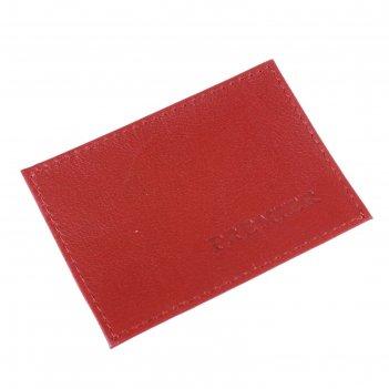 Визитница б/застежки, н/к, 1 красный (v-41-35)