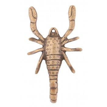 Вешалка жук на 1 крючок, латунь (антик)