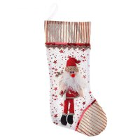 Носок для подарка дед мороз с леденцом