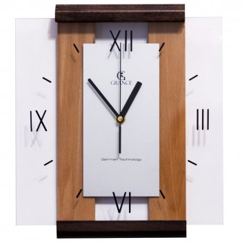Настенные часы с-03  венге - тик 310х270х40 мм