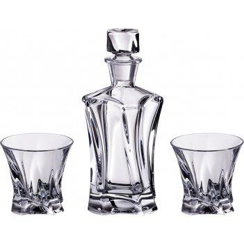 Набор для виски  cooper 3 пр.:штоф+2 стакана 400/230 мл. высота=24/9 см.