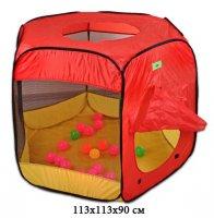 Палатка игровая манеж с мячиками 20 шт. 113*113*90, коробка
