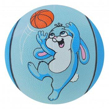Мяч баскетбольный «заяц», размер 3, вес 280 гр