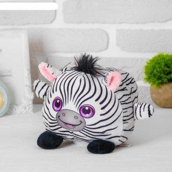 Мягкая игрушка-копилка «зебра», со звуком, с подсветкой