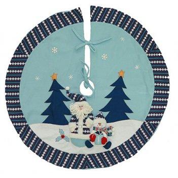 """Новогоднее украшение """"коврик под ёлку"""" 107см"""