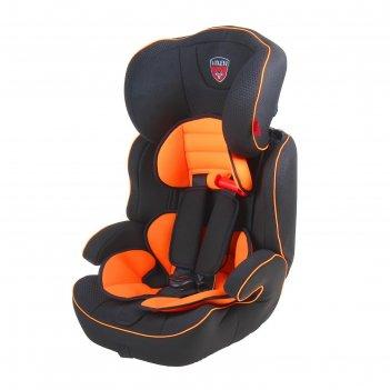 Автокресло-бустер, группа 1-2-3, цвет оранжевый/чёрный