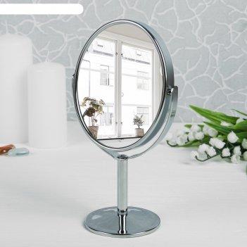 Зеркало на ножке, с увеличением, зеркальная поверхность — 8 x 9,5 см, цвет