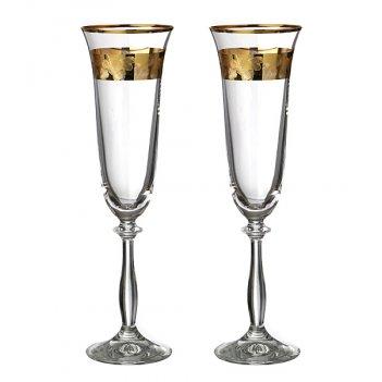 Набор бокалов для шампанского из 2 шт.анжела love...