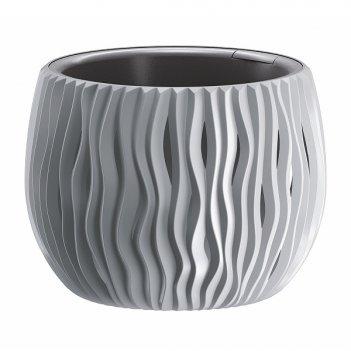 Кашпо для цветов prosperplast sandy bowl 3,9л, серый