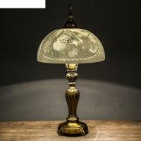 Лампа настольная керамический абажур натюрморт с птицами 60х32 см