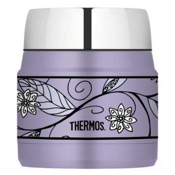 Термос с широким горлом thermos heritage purple flower h3000a6pf, 290 ml