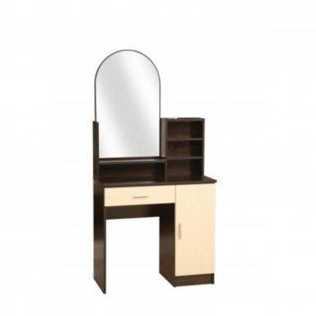 Стол туалетный «надежда-м 09», 804 x 390 x 1650 мм, зеркало, цвет венге /