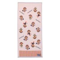 Полотенце махровое купу-купу обезьянки 70*130 см, розовый хл100% 420 гр/м