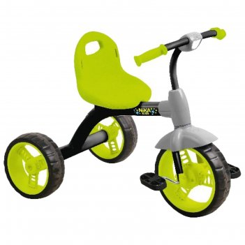 Велосипед трехколесный nika вд1, цвет черный с лимонным