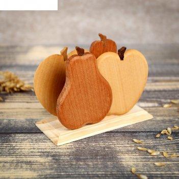 Салфетница деревянная груша, окрашенная