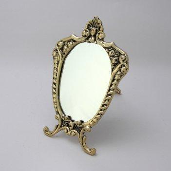 Зеркало настольное под золото прима (bp-21004-d)