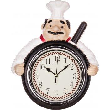 Часы настенные кварцевые chef kitchen 23,5*29,3*6 см.диаметр циферблата=13