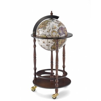 Глобус-бар напольный эпоха, сфера 33 см