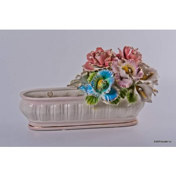 Корзина декоративная цветы