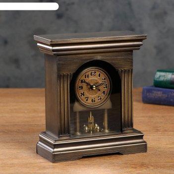 Часы настольные с маятником, дискретный ход, 3 ааа, вращающийся механизм,