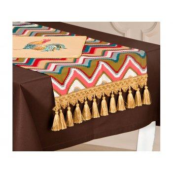 Дорожка-наперон на стол 40*78 см петух-волна 100...