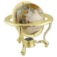 Глобус настольный каменный жемчуг