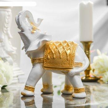 Статуэтка слон белый/золото