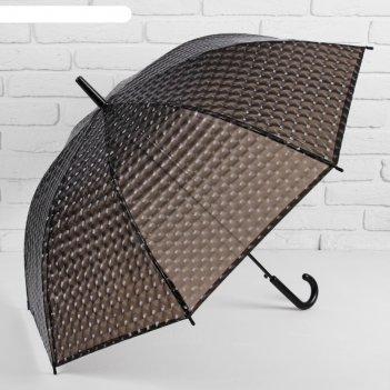 Зонт полуавтоматический «однотонный», 3d, 8 спиц, r = 55 см, цвет чёрный