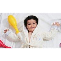 Халат детский махровый с капюшоном teeny, 2-3 года, цвет экрю 912/4