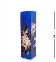 Vz-536 ваза стеклянная жостово h-400 (квадрат)