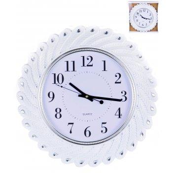 Часы настенные круглые home art «белые перья» 43 см