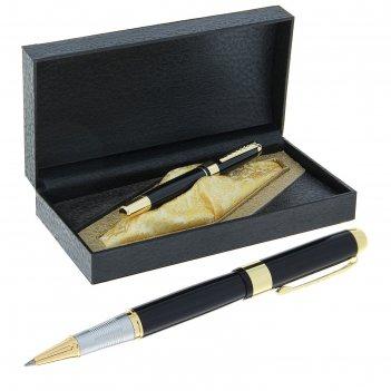 Ручка шариковая подарочная в кожзам футляре престиж