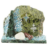 Сувенир зимняя сказка камень змеевик