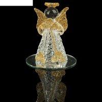 Сувенир ангелок с цветными вставками, на зеркале, микс