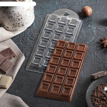 Форма для шоколада шоколад традиционный 7х15х10 см