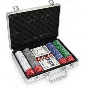 Набор для игры в покер на 200 фишек suites