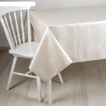 Клеенка столовая на ткани, ширина 137 см розалия тиснение, рулон 20 метров