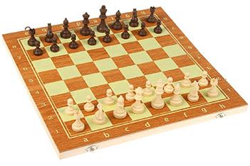 Нарды шашки шахматы 3в1, фишки пластик, 39*3,8*19,5см