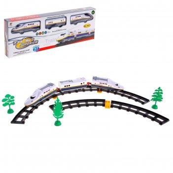 Железная дорога скоростной электропоезд, световые эффекты, 27 деталей
