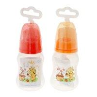 Бутылочка  для кормления полипропиленовая эргономичной формы с силиконовой