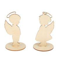 Заготовка для декора из фанеры ангелочки (набор 4 детали) 70x150x0,3мм