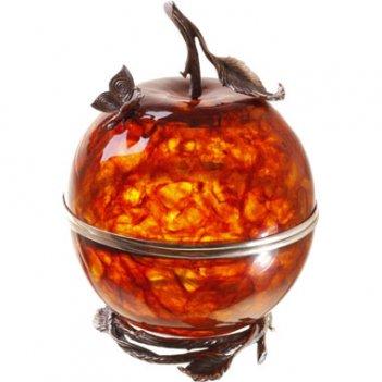 Шкатулка из янтаря райское яблоко